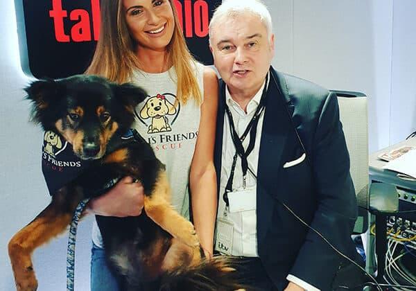 Natalia George with Eamonn Holmes